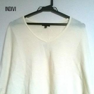 INDIVI - INDIVI(インディビ) チュニック サイズ38 M レディース アイボリー