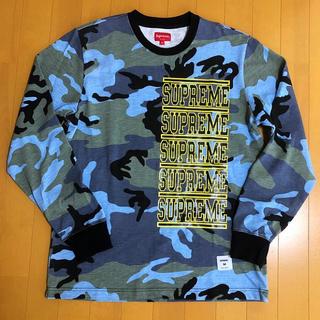 シュプリーム(Supreme)のSupreme Stacked L/S Top 18SS【M】(Tシャツ/カットソー(七分/長袖))