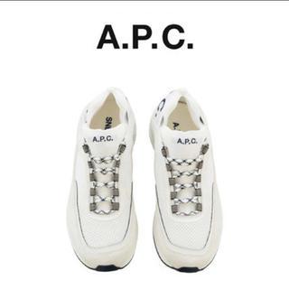 アーペーセー(A.P.C)の新品 A.P.C パネル スニーカー ホワイト スエード アーペーセー 41(スニーカー)
