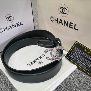 シャネル(CHANEL)の美品Chanelシャネル ベルト ブラック レディース 正規品 (ベルト)