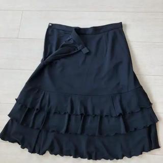 イネド(INED)のINED  大人なフリルスカート(ひざ丈スカート)