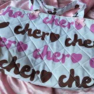 シェル(Cher)のシェル ピンク キルティングトートバック❤︎(トートバッグ)