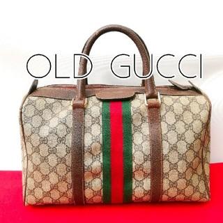 グッチ(Gucci)の希少!オールドグッチ シェリーライン ビンテージボストンバッグ ハンドバッグ(ボストンバッグ)