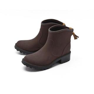 MILADY  ミレディ レザーウィングショートレインブーツ(レインブーツ/長靴)