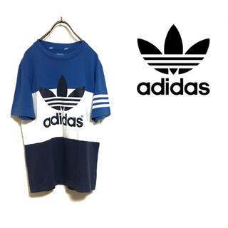 adidas アディダス トレフォイル ビッグロゴ Tシャツ