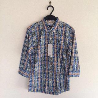 GU - ☆新品☆GU☆フラワープリントチェックシャツ☆サイズS☆