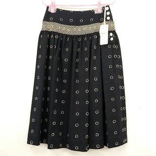 ミナペルホネン(mina perhonen)の未使用タグ付●ミナペルホネン drops 夏用 麻混スカート(ひざ丈スカート)