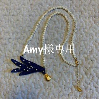 ツモリチサト(TSUMORI CHISATO)のtsumori chisato 青い鳥パールネックレス(ネックレス)