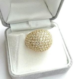 《新品仕上げ》 5.00ct K18 パヴェダイヤリング (リング(指輪))