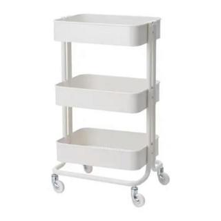 イケア(IKEA)の【新品・送料込み】IKEAイケア RASKOG ワゴン, ホワイト(キッチン収納)