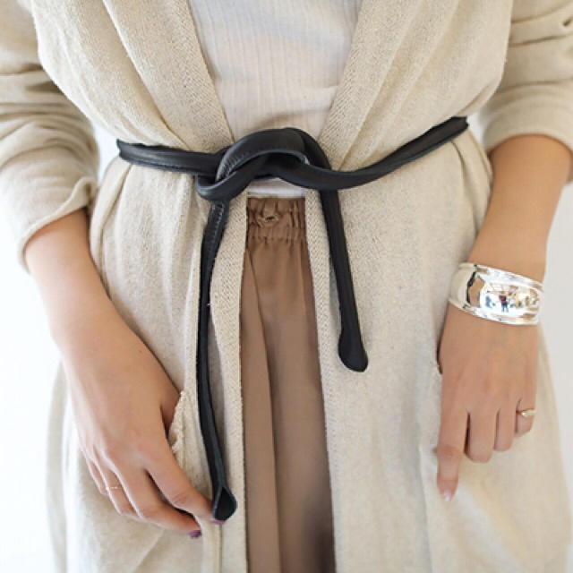 TODAYFUL(トゥデイフル)のKnot Leather Belt レディースのファッション小物(ベルト)の商品写真