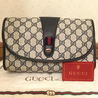 Gucci - 極美品♡希少ネイビー オールド GUCCIグッチ クラッチバッグ セカンドバッグ