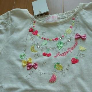 mezzo piano - メゾピアノ☆新品フルーツ刺繍Tシャツ