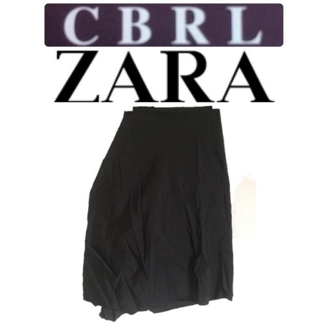 dc44771e532fa6 ZARA - CBRL ZARA ザラ スカート 【ブラック】 サイズLの通販 by ニコル ...