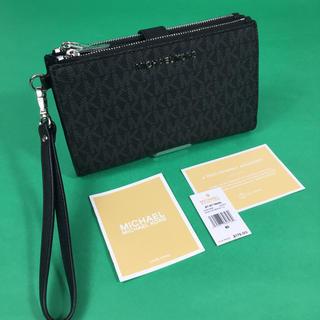 マイケルコース(Michael Kors)のマイケルコース ダブル ジップ リストレット スマートフォン 長財布 ブラック (財布)