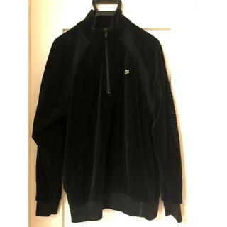 シュプリーム(Supreme)のLacoste velour half zip sweatshirt(スウェット)