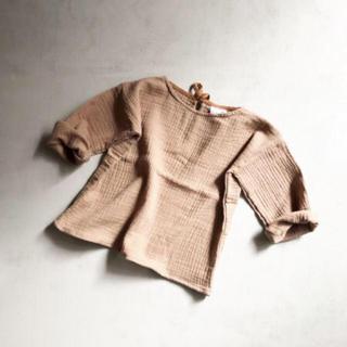 キャラメルベビー&チャイルド(Caramel baby&child )のliilu oversize shirts mud オーバーサイズシャツ(ブラウス)