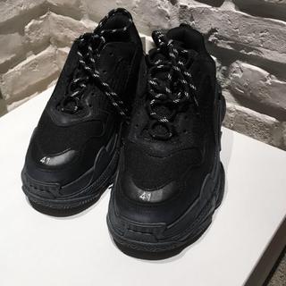 Balenciaga - 国内正規品 バレンシアガ トリプルS スニーカー 41 ブラック 登坂広臣