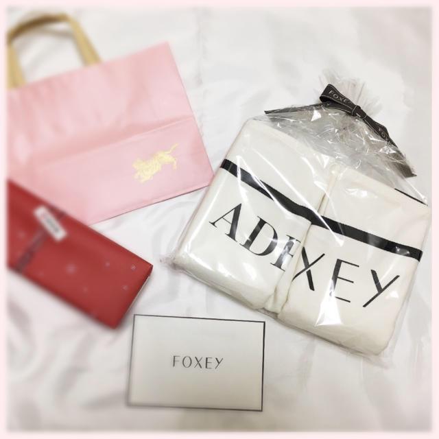 FOXEY(フォクシー)のフォクシー 限定 ノベルティ ダブルネームトートバック エンタメ/ホビーのコレクション(ノベルティグッズ)の商品写真