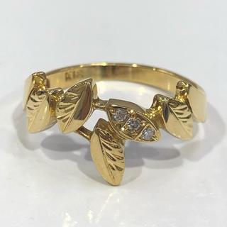 K18 リーフモチーフ ダイヤモンド リング(リング(指輪))