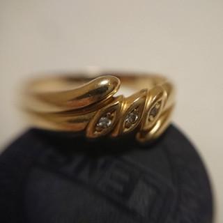 18金 リング 指輪 ダイヤ