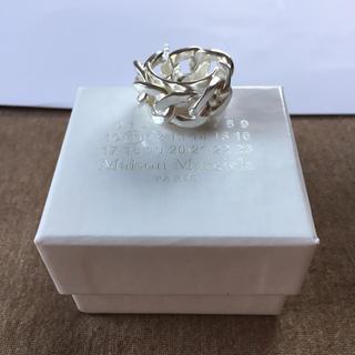 マルタンマルジェラ(Maison Martin Margiela)の19SS新品M マルジェラ シルバー チェーンリング 指輪 今期(リング(指輪))