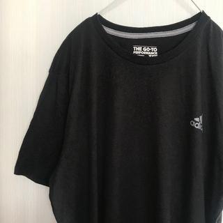 アメリカ古着!Tシャツ XL adidas アディダス 黒 [591]