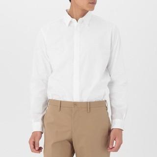ムジルシリョウヒン(MUJI (無印良品))の無印 MUJI 比翼ワイシャツ 白 L(シャツ)