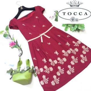 トッカ(TOCCA)のトッカ フラワー刺繍ワンピース(ひざ丈ワンピース)