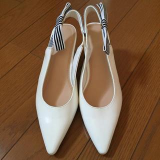 Mila Owen - 新品未使用 Mila Owen ホワイトミュール パンプス シューズ 靴