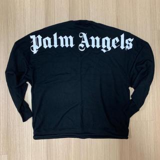 シュプリーム(Supreme)のPalm Angels 薄手セーター 黒 L(Tシャツ/カットソー(七分/長袖))