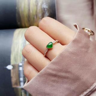 220 k18ゴールドリング ハット 黄翡翠リング ダイヤモンドリング 指輪 (リング(指輪))