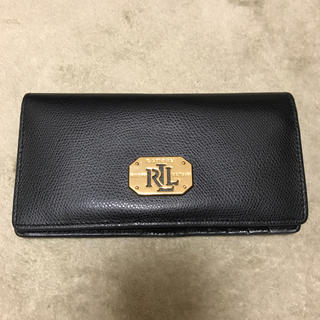 ラルフローレン(Ralph Lauren)の値下げ★ラルフローレン レザー 長財布 二つ折り 小銭入れあり 黒ブラック(財布)