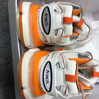 balenciaga track shoes 42 ホワイト オレンジ(スニーカー)