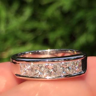 pt  お姫様♡プリンセスカット  ダイヤモンド リング(リング(指輪))
