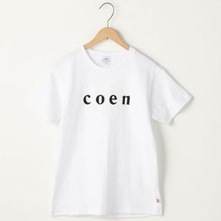 coen - 新品タグ付き☆コーエン☆ロゴTシャツ白メンズS
