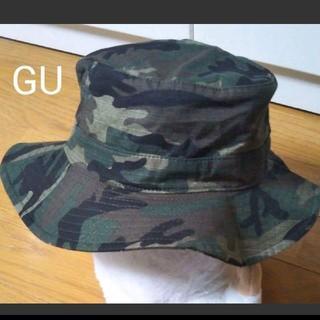 GU - 【美品】GU キッズ カモフラバケットハット 頭周り54cm