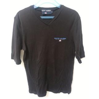 ラルフローレン(Ralph Lauren)の【定番 黒】ラルフローレン ☆レディース Tシャツ Lサイズ(Tシャツ(半袖/袖なし))