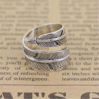 シルバー 925 シンプル イーグル フェザー 指輪 イーグル 男女共用 リング