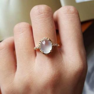 221 k18ゴールドリング ハット 黄翡翠リング ダイヤモンドリング 指輪 (リング(指輪))