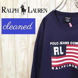ポロラルフローレン(POLO RALPH LAUREN)の【クリーニング済・美品】ポロジーンズ 星条旗 裏起毛 スウェット オーバーサイズ(スウェット)