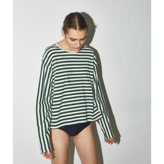 エンフォルド(ENFOLD)のナゴンスタンス ボーダーTシャツ 38(Tシャツ(長袖/七分))