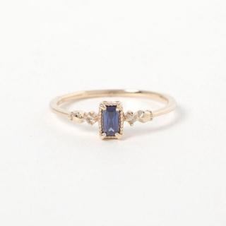 アガット(agete)の美品 ミロワ K10 YG 15号 タンザナイトダイヤリング 保証書付属 (リング(指輪))