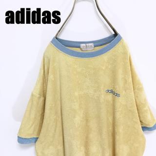 アディダス(adidas)の90s adidas アディダス タオル生地 Tシャツ デサント製 Lサイズ(Tシャツ/カットソー(半袖/袖なし))