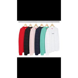 シュプリーム(Supreme)の2017AW Logo Stripe L/S Top(Tシャツ/カットソー(七分/長袖))