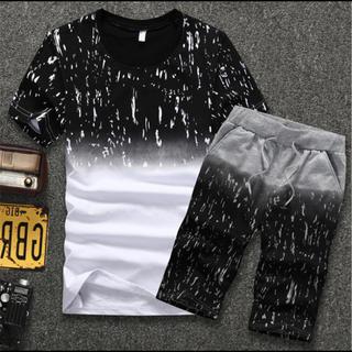 メンズ セットアップ 半袖 半ズボン XL