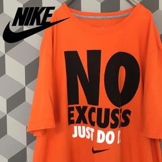 NIKE - 【Nike】ナイキ ビッグサイズ プリントTシャツ オレンジ/XXL