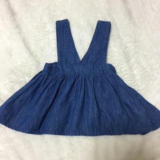 ニシマツヤ(西松屋)の西松屋 デニムジャンパースカート 80(スカート)