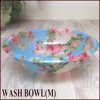 直径25cm 洗面器(M)サイズ 薔薇・ローズ/BL アクリル製バスボウル