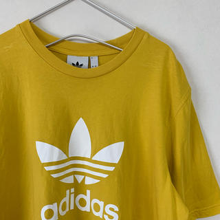 adidas - 美品  adidas originals トレフォイルビッグロゴ Tシャツ 黄色